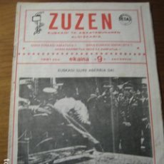 Libros de segunda mano: ZUZEN Nº 9 JUNIO 1981 BOLETÍN EXTERNO DE ETA POLITICA VASCA . Lote 156916250
