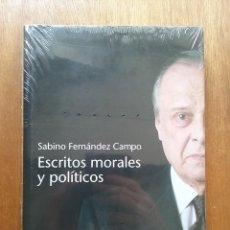 Libri di seconda mano: ESCRITOS MORALES Y POLITICOS, SABINO FERNANDEZ CAMPO, EDICIONES NOBEL. Lote 157959426