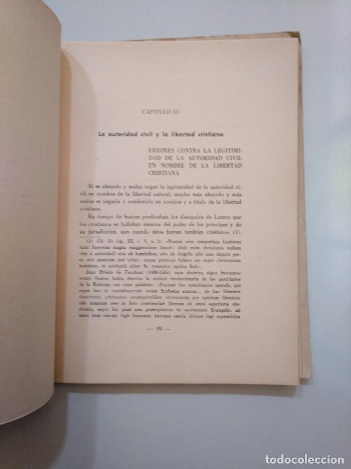 Libros de segunda mano: LA AUTORIDAD CIVIL EN FRANCISCO SUAREZ. P. MATEO LANSEROS. INSTITUTO DE ESTUDIOS POLITICOS. TDK378 - Foto 2 - 158424414