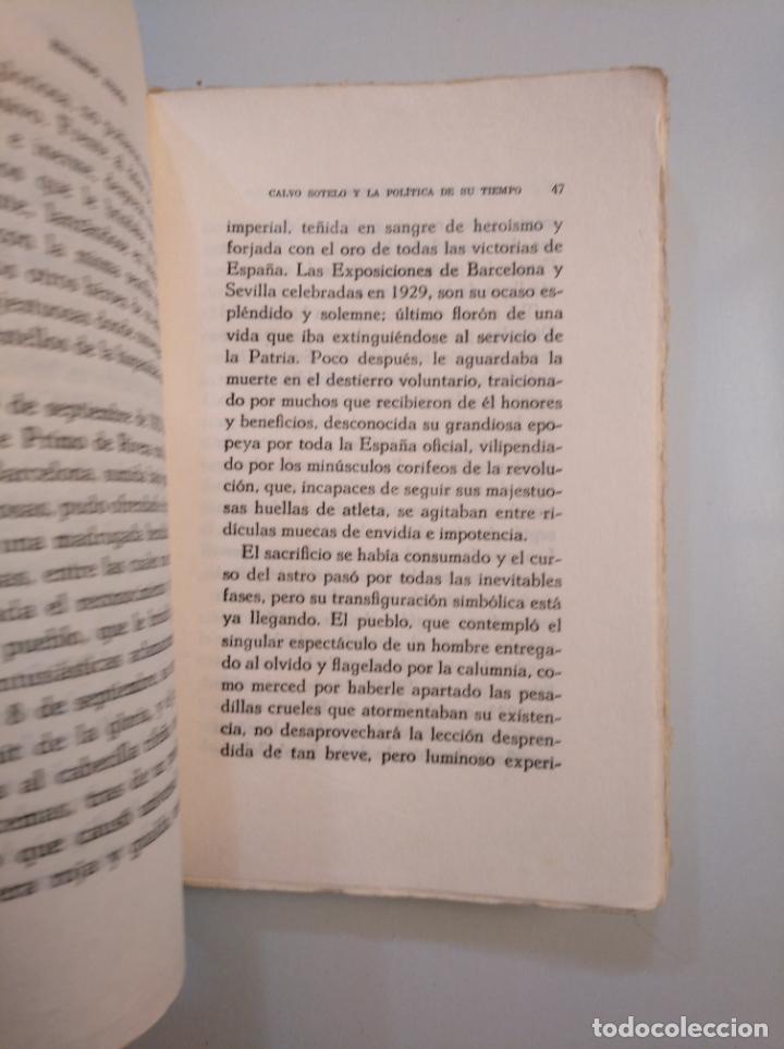 Libros de segunda mano: CALVO SOTELO Y LA POLITICA DE SU TIEMPO. - AUNOS, EDUARDO. 1941. TDK379 - Foto 2 - 159081970