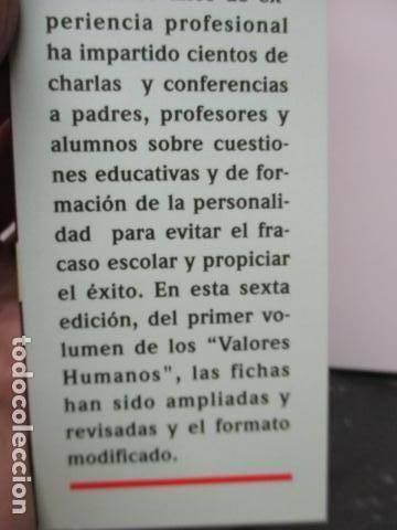 Libros de segunda mano: Valores Humanos - Primer Volumen - Bernabé Tierno - Taller de Editores - Foto 6 - 263106370