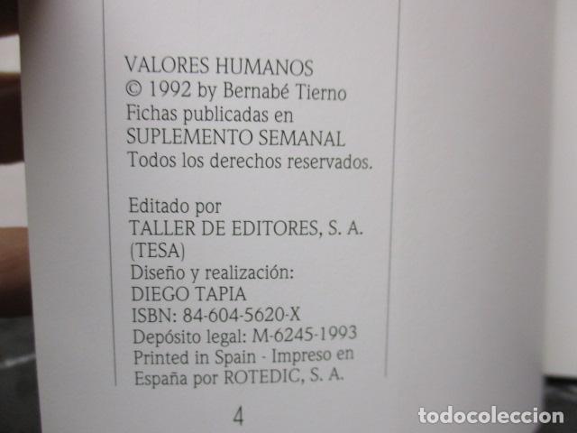 Libros de segunda mano: Valores Humanos - Primer Volumen - Bernabé Tierno - Taller de Editores - Foto 9 - 263106370