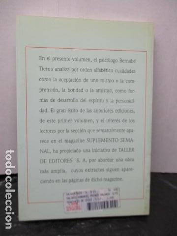 Libros de segunda mano: Valores Humanos - Primer Volumen - Bernabé Tierno - Taller de Editores - Foto 14 - 263106370