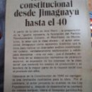 Libros de segunda mano: ANÁLISIS CONSTITUCIONAL DESDE JIMAGUAYU HASTA EL 40. JORGE DE LA FUENTE.. Lote 161250654