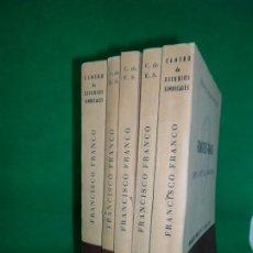 Libros de segunda mano: FRANCISCO FRANCO, CENTRO DE ESTUDIOS SINDICALES, 5 VOLÚMENES. Lote 162279858