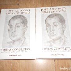 Libros de segunda mano: JOSE ANTONIO PRIMO DE RIVERA - OBRAS COMPLETAS 2 TOMOS - EDICION DEL CENTENARIO. Lote 162407766