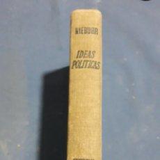 Libros de segunda mano: NIEBUHR IDEAS POLITICAS 1965. Lote 163789704