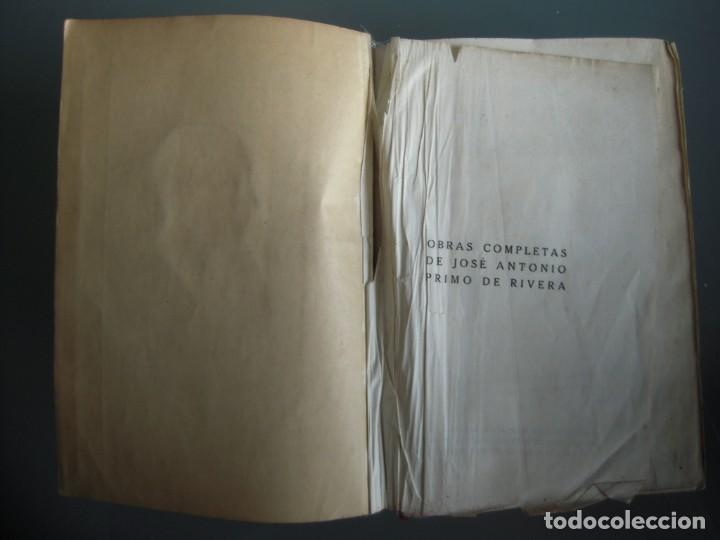 Libros de segunda mano: Obras completas de Jose Antonio Primo de Rivera Editora Nacional con prEFACIO de Francisco Franco - Foto 4 - 165336366
