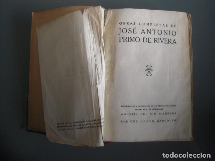 Libros de segunda mano: Obras completas de Jose Antonio Primo de Rivera Editora Nacional con prEFACIO de Francisco Franco - Foto 5 - 165336366