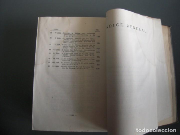 Libros de segunda mano: Obras completas de Jose Antonio Primo de Rivera Editora Nacional con prEFACIO de Francisco Franco - Foto 8 - 165336366