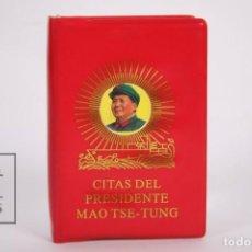 Libros de segunda mano: LIBRO ROJO EN CASTELLANO - CITAS DEL PRESIDENTE MAO TSE-TUNG - AÑO 1967 - PARTIDO COMUNISTA DE CHINA. Lote 166149106