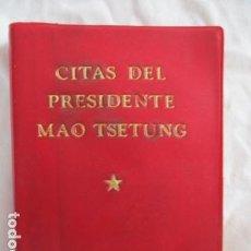 Libros de segunda mano: TSETUNG, MAO - CITAS DEL PRESIDENTE MAO TSETUNG - PEKIN 1972 - MUY BIEN CONSERVADO.. Lote 167548864