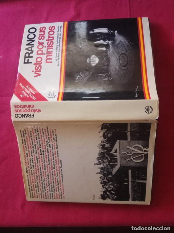 Libros de segunda mano: FRANCO VISTO POR SUS MINISTROS. ESPEJO DE ESPAÑA, EDITORIAL PLANETA, 1981. - Foto 2 - 167688820
