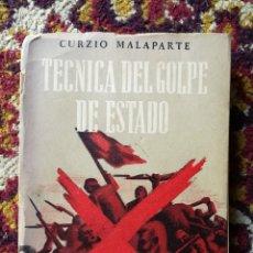 Libros de segunda mano: LA TECNICA DEL GOLPE DE ESTADO- CURZIO MALAPARTE - EDITORIAL AMERICANA, AÑOS 30'S. RARO!!!. . Lote 167856300