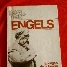 Libros de segunda mano: EL ORIGEN DE LA FAMILIA (1986) ENGELS (EDICION IMPRESA EN LA URSS) ED. PROGRESO MOSCU - COMUNISTA. Lote 168193728