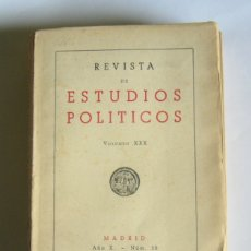 Libros de segunda mano: REVISTA DE ESTUDIOS POLITICOS - Nº 54. 1950 - FRANCISCO JAVIER CONDE ( DIRECTOR ). Lote 168766432