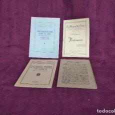 Libros de segunda mano: LOTE DE 4 LIBRITOS DE REGLAMENTOS EN EL TRABAJO, MEDIADOS XX. Lote 169268100