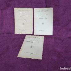 Libros de segunda mano: 1930´S, LOTE DE 3 LIBRITOS DE REGLAMENTOS EN EL TRABAJO, MINISTERIO DE TRABAJO Y PREVISIÓN. Lote 169268272