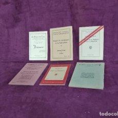 Libros de segunda mano: 1930´S -1940´S, LOTE DE 6 LIBRITOS RELACIONADOS CON SEGUROS Y MUTUAS. Lote 169268764