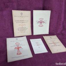 Libros de segunda mano: 1940´S, LOTE DE 5 LIBRITOS DE SINDICALISMO Y LA FALANGE ESPAÑOLA, JUGO Y FLECHAS. Lote 169269092