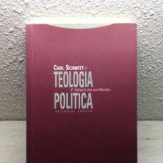 Libros de segunda mano: CARL SCHMITT. TEOLOGÍA POLÍTICA. Lote 169347708