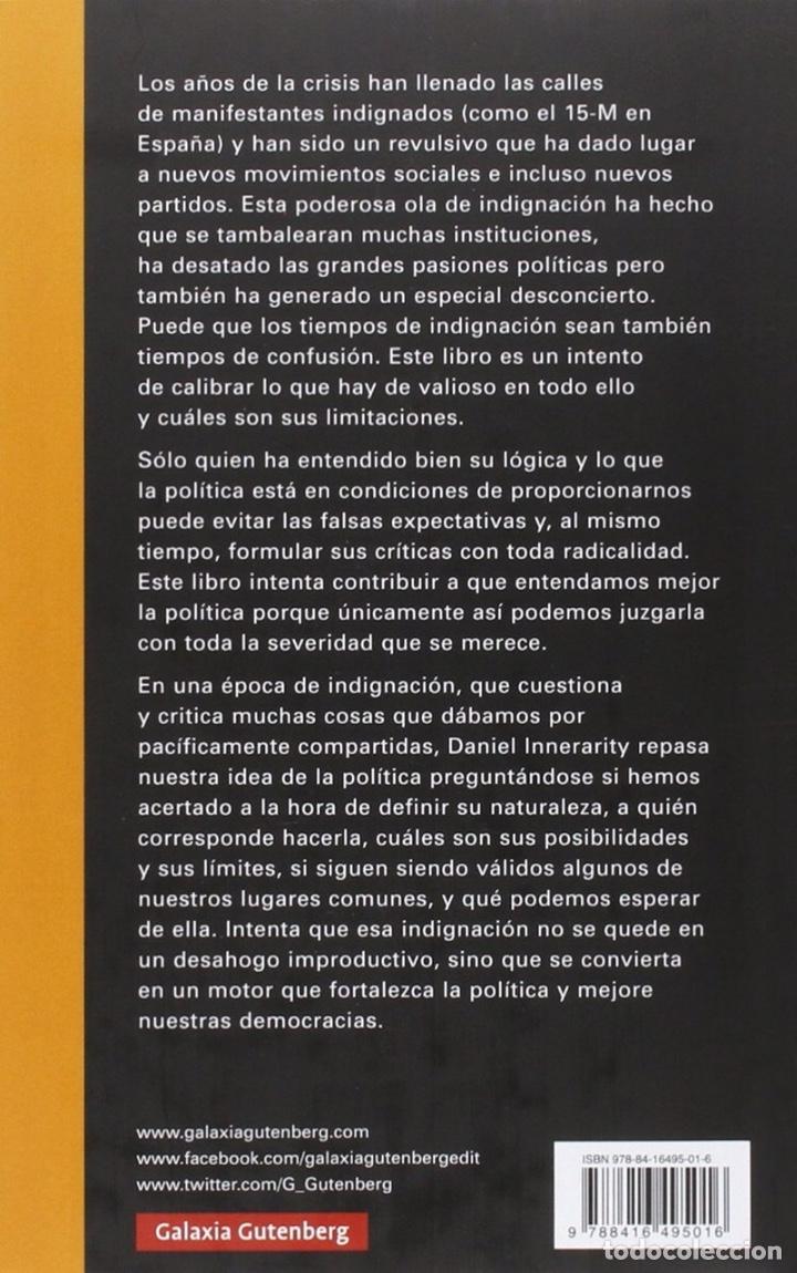 Libros de segunda mano: La política en tiempos de indignación - Daniel Innerarity - Foto 2 - 170178217