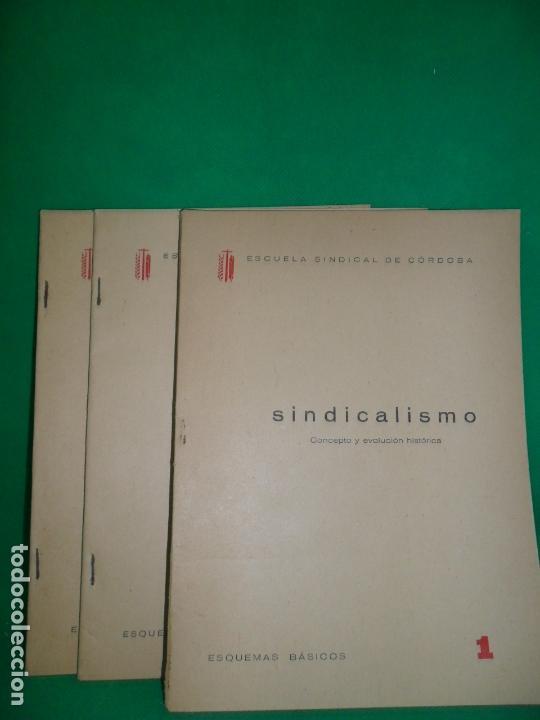 SINDICALISMO, 3 VOLÚMENES, ED. ESCUELA SINDICAL DE CÓRDOBA, 1961 (Libros de Segunda Mano - Pensamiento - Política)