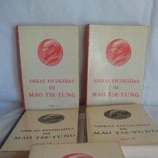 Libros de segunda mano: OBRAS ESCOGIDAS DE MAO TSE-TUNG.EDIT.FUNDAMENTOS 1978. Lote 170901255