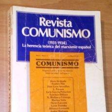 Libros de segunda mano: REVISTA COMUNISMO (1931-1934). LA HERENCIA HISTÓRICA DEL MARXISMO ESPAÑOL - FONTAMARA, 1978. Lote 180281361