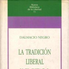 Libros de segunda mano: LA TRADICIÓN LIBERAL Y EL ESTADO / DALMACIO NEGRO. Lote 171652554