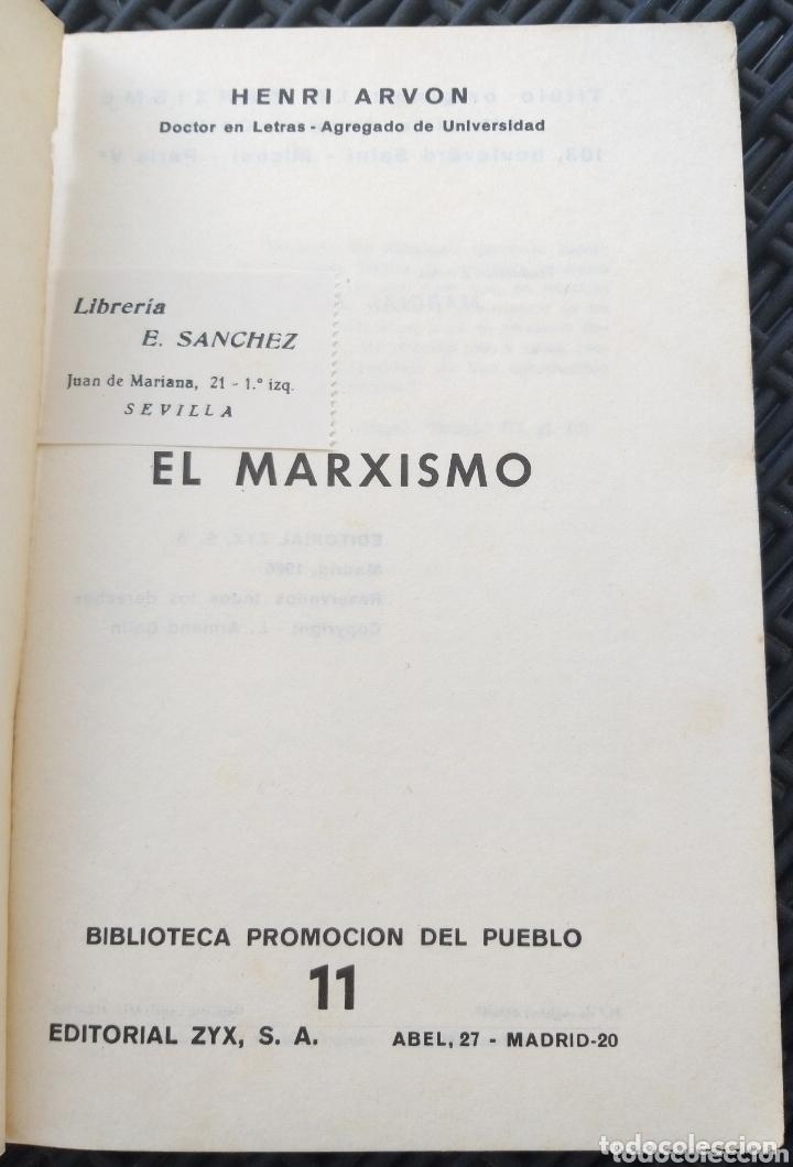 Libros de segunda mano: EL MARXISMO. HENRI ARVON. 1966. BIBLIOTECA PROMOCION DEL PUEBLO. MARX. - Foto 2 - 172135895