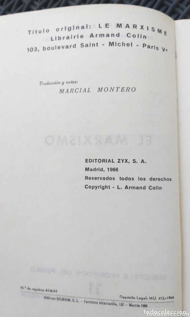 Libros de segunda mano: EL MARXISMO. HENRI ARVON. 1966. BIBLIOTECA PROMOCION DEL PUEBLO. MARX. - Foto 3 - 172135895