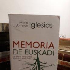 Libros de segunda mano: MEMORIAS DE EUSKADI. Lote 172155009