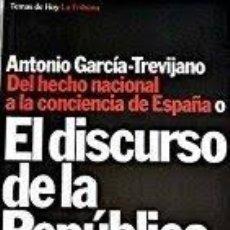 Libros de segunda mano: EL DISCURSO DE LA REPÚBLICA A. GARCIA TREVIJANO. Lote 172430810