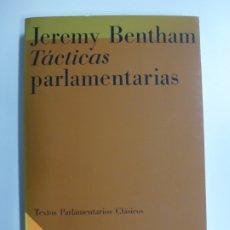 Livres d'occasion: TÁCTICAS PARLAMENTARIAS. JEREMY BENTHAM. . Lote 172627600