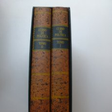 Libros de segunda mano: CURSO DE POLÍTICA CONSTITUCIONAL. TOMO I Y II. REPODUCCIÓN FACSÍMIL NUMERADA MINISTERIO DEL INTERIOR. Lote 173113559