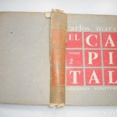 Libros de segunda mano: CARLOS MARX EL CAPITAL TOMO 2 Y95539 . Lote 173367765