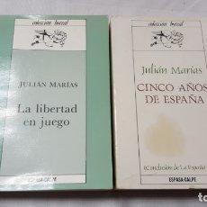 Libros de segunda mano: LA LIBERTAD EN JUEGO. CINCO AÑOS DE ESPAÑA. JULIAN MARÍAS. . Lote 173381912