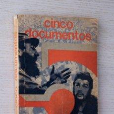 Libros de segunda mano: CINCO DOCUMENTOS - CASTRO, FIDEL. Lote 171979642