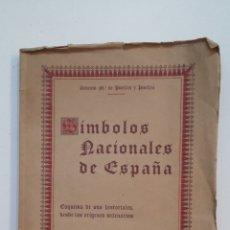 Libros de segunda mano: SÍMBOLOS NACIONALES DE ESPAÑA. ANTONIO MARIA DE PUELLES Y PUELLES. 1941. TDK416. Lote 175073254