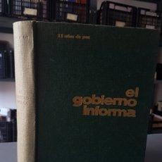 Libros de segunda mano: EL GOBIERNO INFORMA. 25 AÑOS DE PAZ. NUEVA ECONOMÍA. 1964. ESPAÑA FRANCO.. Lote 175163050