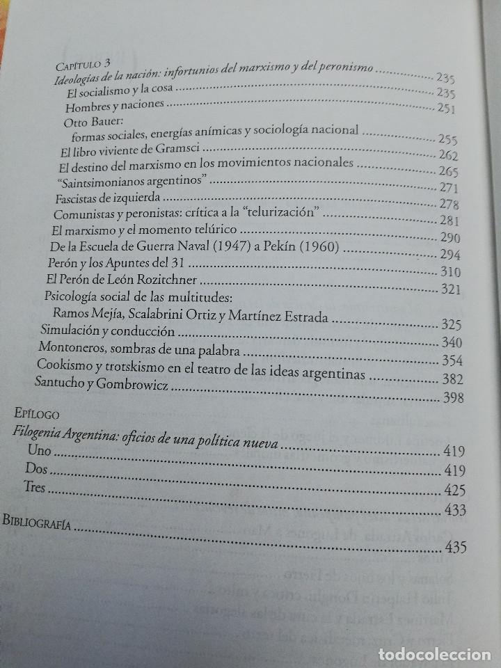 Libros de segunda mano: RESTOS PAMPEANOS. CIENCIA, ENSAYO Y POLÍTICA EN LA CULTURA ARGENTINA DEL SIGLO XX (HORACIO GONZÁLEZ) - Foto 4 - 175632898
