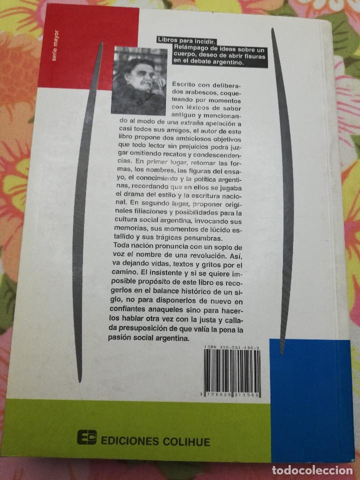 Libros de segunda mano: RESTOS PAMPEANOS. CIENCIA, ENSAYO Y POLÍTICA EN LA CULTURA ARGENTINA DEL SIGLO XX (HORACIO GONZÁLEZ) - Foto 5 - 175632898