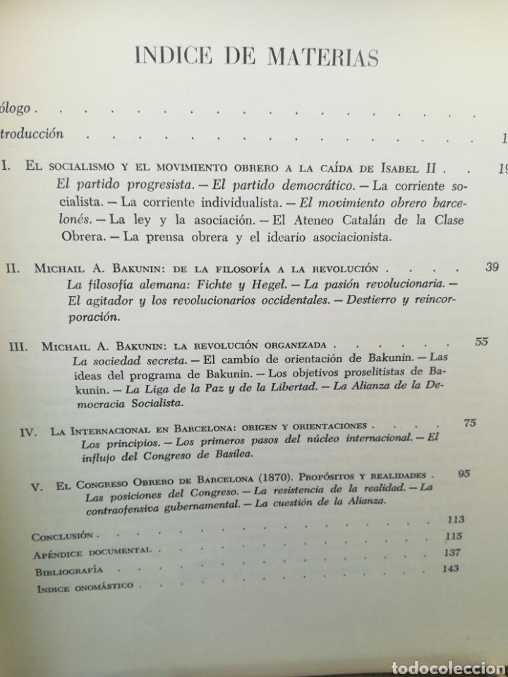 Libros de segunda mano: Orígenes del anarquismo en Barcelona por Casimir o Martí y Prólogo de J Vicens Vives - Foto 2 - 175693964