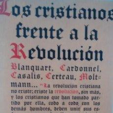 Libros de segunda mano: LOS CRISTIANOS FRENTE A LA REVOLUCION DE VARIOS AUTORES (LAIA). Lote 175705590