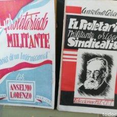 Libros de segunda mano: EL PROLETARIADO MILITANTE ANSELMO LORENZO DOS TOMOS EDICIONES MIE CNT. Lote 175705934