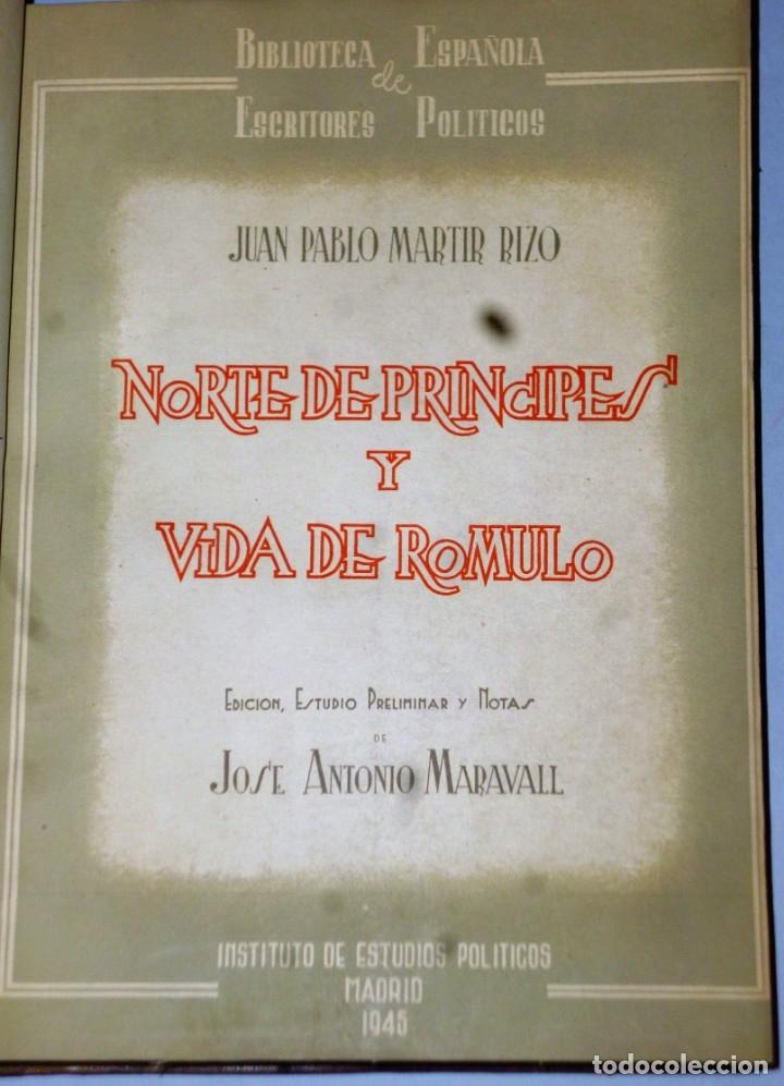 Libros de segunda mano: NORTE DE PRÍNCIPES Y VIDA DE RÓMULO - Foto 2 - 175807057