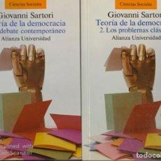 Libros de segunda mano: GIOVANNI SARTORI. TEORÍA DE LA DEMOCRACIA. 2 VOLÚMENES. MADRID, 2001. . Lote 175935163