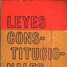 Libros de segunda mano: LEYES CONSTITUCIONALES (TAURUS, 2 VOL.). Lote 176064134