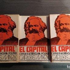 Libros de segunda mano: EL CAPITAL. CRÍTICA DE LA ECONOMÍA POLÍTICA I, II Y III. KARL MARX. FONDO DE CULTURA ECONÓMICA. . Lote 176211488